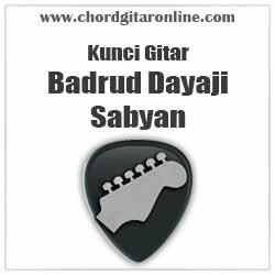 Chord Sabyan Badrud Dayaji Feat Adam Ali