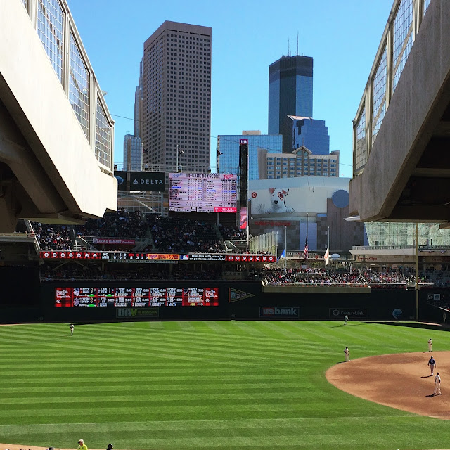 downtown view from target field
