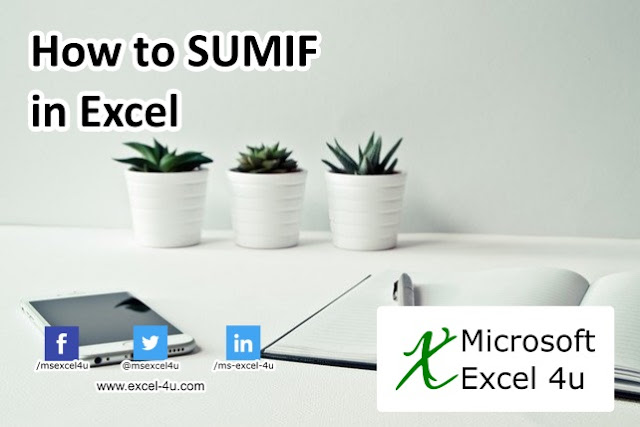 How to SUMIF in Excel