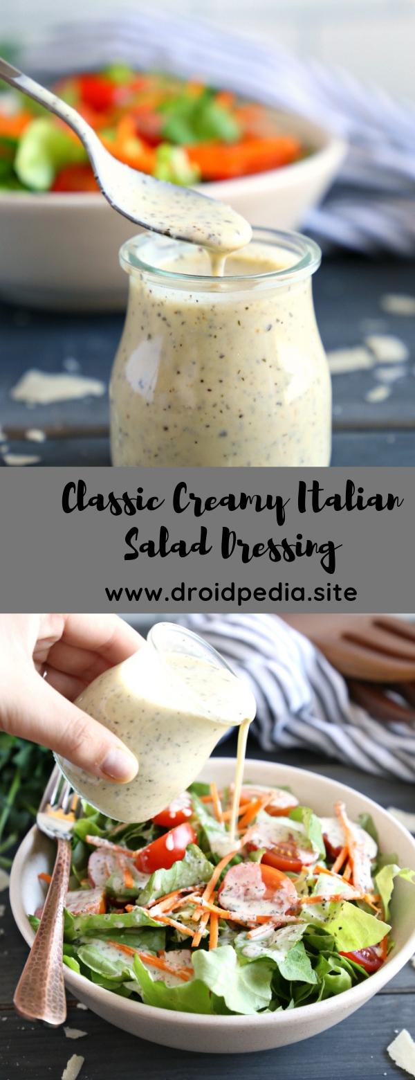 Classic Creamy Italian Salad Dressing #appetizer #saladdressing  #sauce