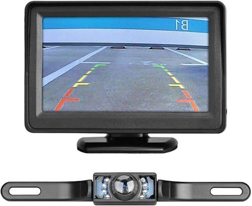 Lychee CAR Backup Camera Monitor Kit Wireless