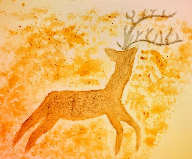 natural dye painting primitive art