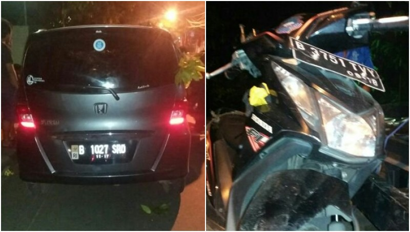 Kecelakaan yang melibatkan Honda Freed di Lenteng Agung