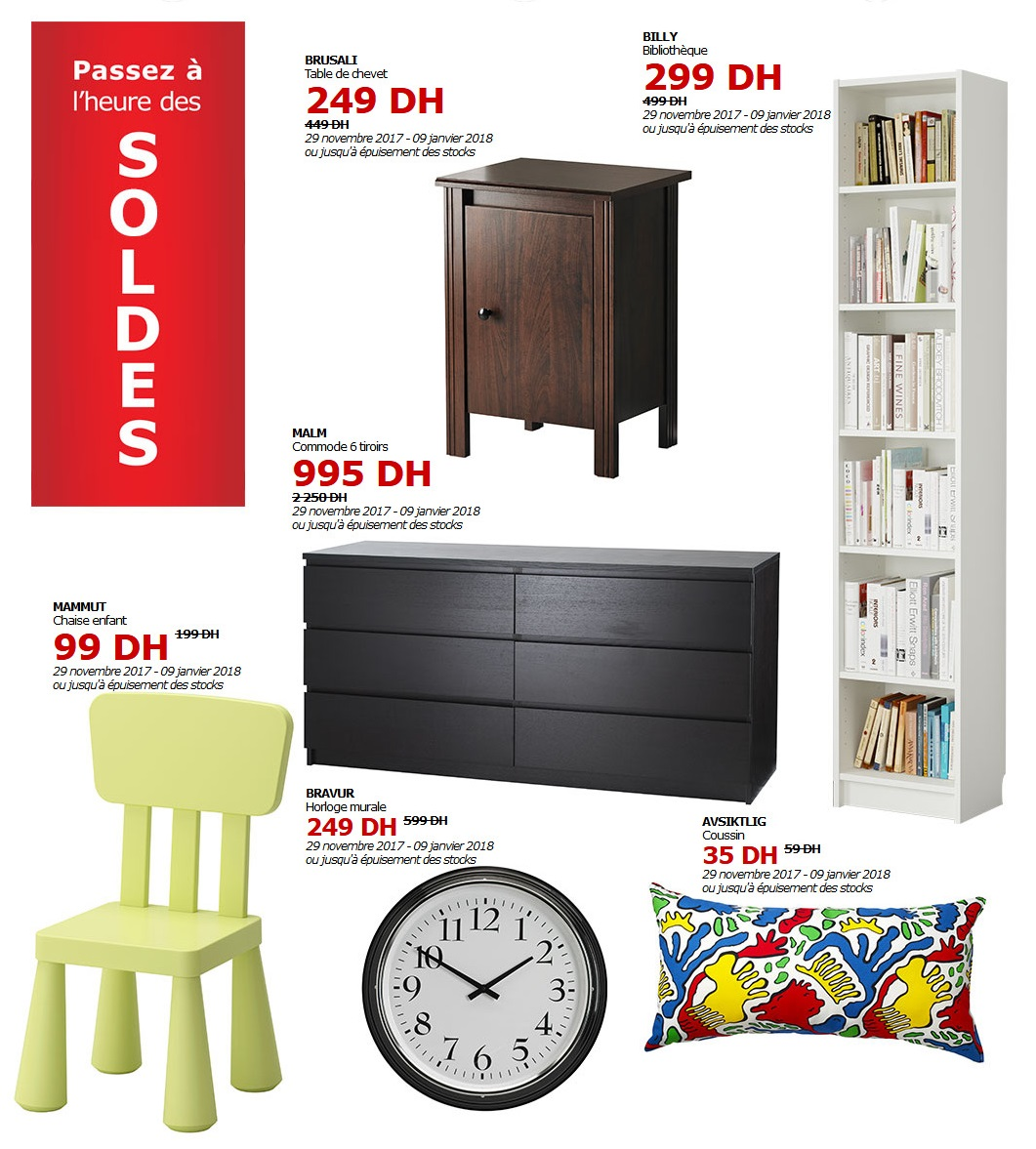 soldes ikea maroc jusqu 39 au 9 janvier 2018 lecatalogue 100 catalogues. Black Bedroom Furniture Sets. Home Design Ideas