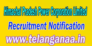 HPPCL (Himachal Pradesh Power Corporation Limited) Recruitment Notification 2016 hppcl.in