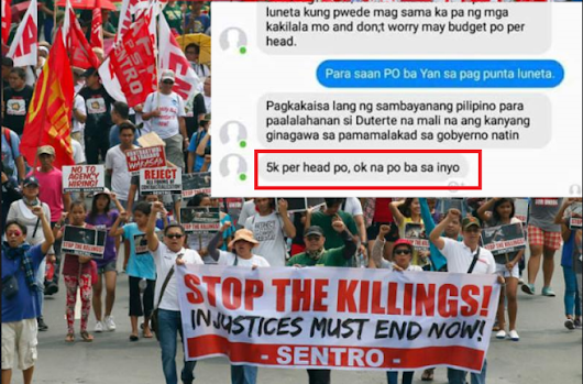 LOOK: 5k TF being offered to rally in Luneta on Sept. 21