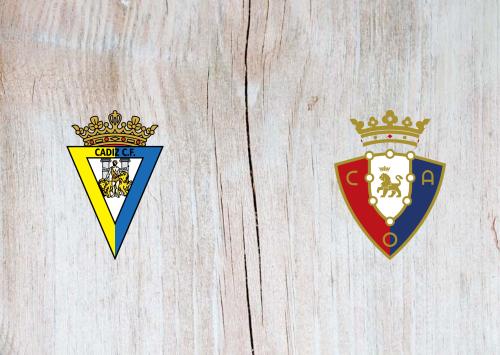 Cádiz vs Osasuna -Highlights 12 September 2020