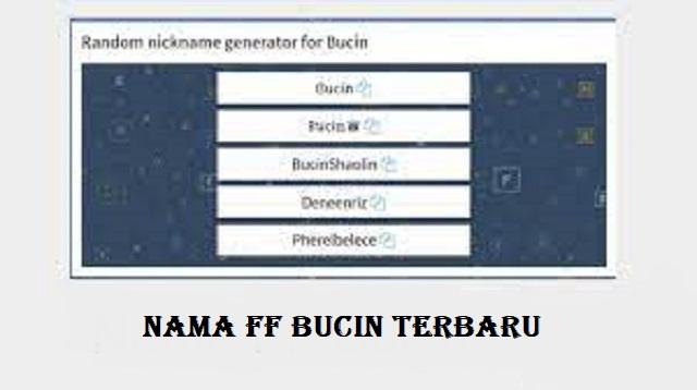 Nama FF Bucin