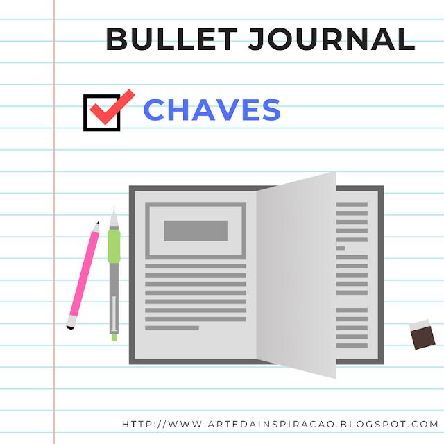 bullet journal, bujo, chaves, organização, organizar, legenda