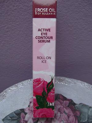 Očné sérum v guličke s ružovým olejom