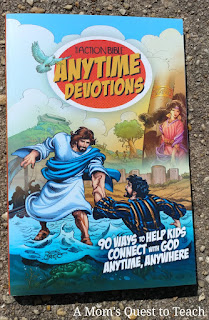 book cover of The Action Bible Anytime Devotions