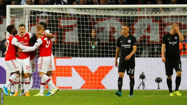 Europa League: Arsenal start campaign with a victory against Frankfurt