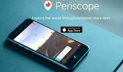 transmissão ao vivo com periscope