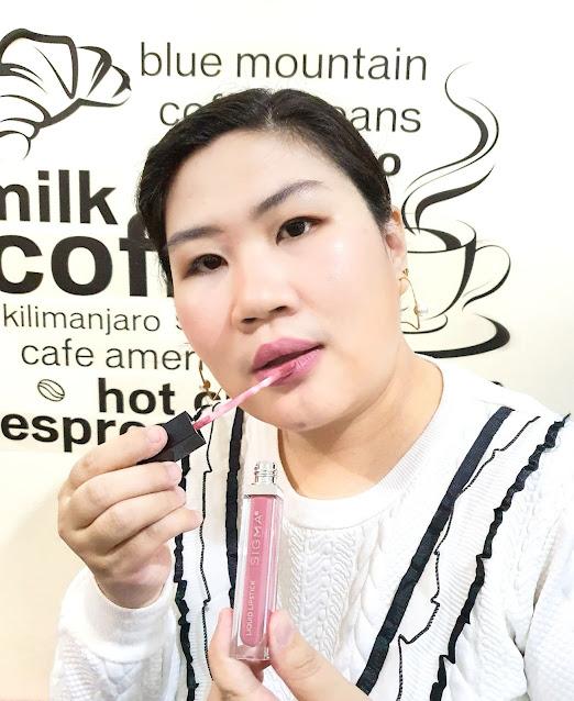 Review Sigma Beauty Liquid Lipstick Awaken