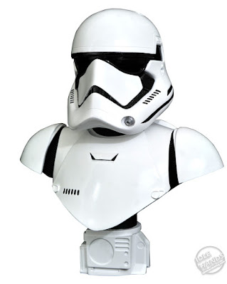 Diamond Select Star Wars The Force Awakens First Order Stormtrooper Legends in 3D Half Scale Bust