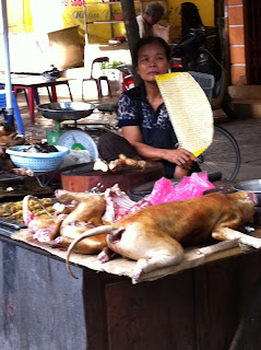 Arrosto di cane in Vietnam