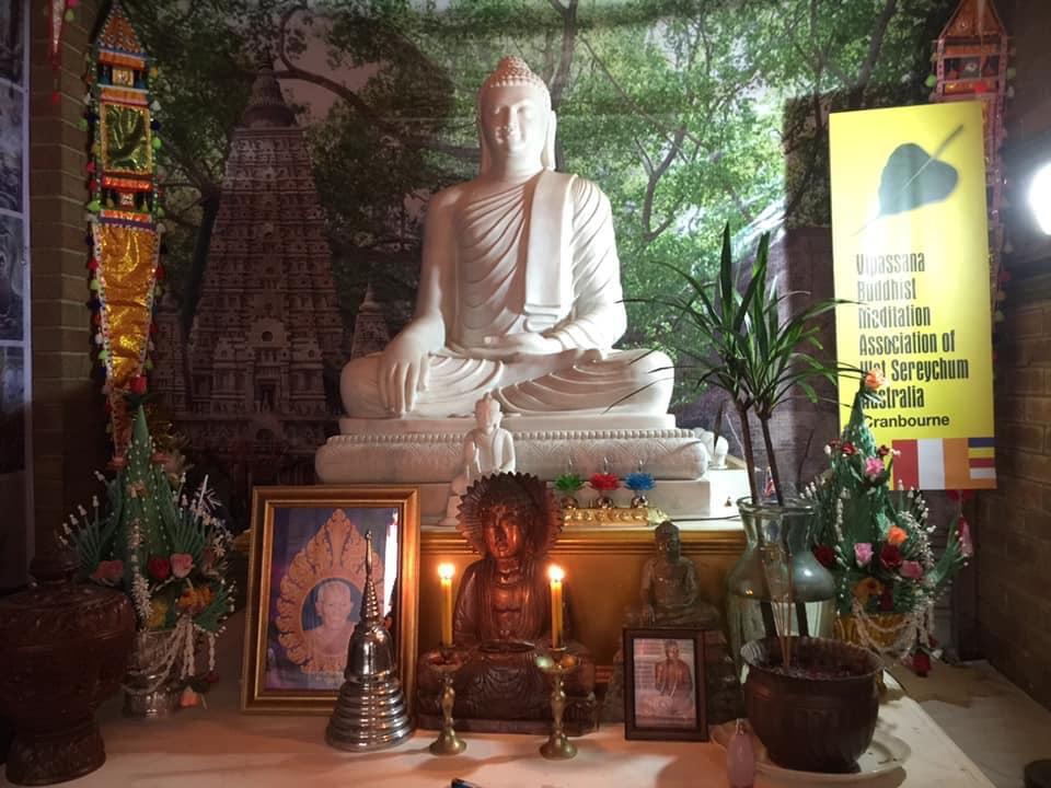 Wat Sereychum's Sacred Buddha Statue from India