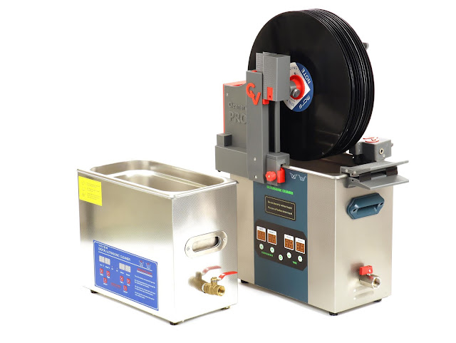 132 kHz high frequency ultrasonic vinyl record cleaning