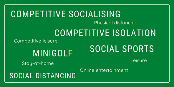 Competitive socialising and competitive isolation in the world of social distancing