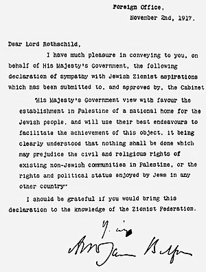balfour declaration, deklarasi balfour