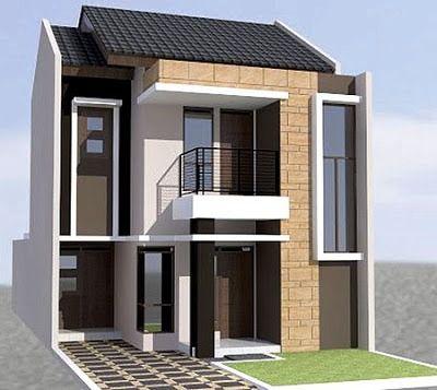 Gambar Desain Rumah Type 36 2 Lantai Elegan