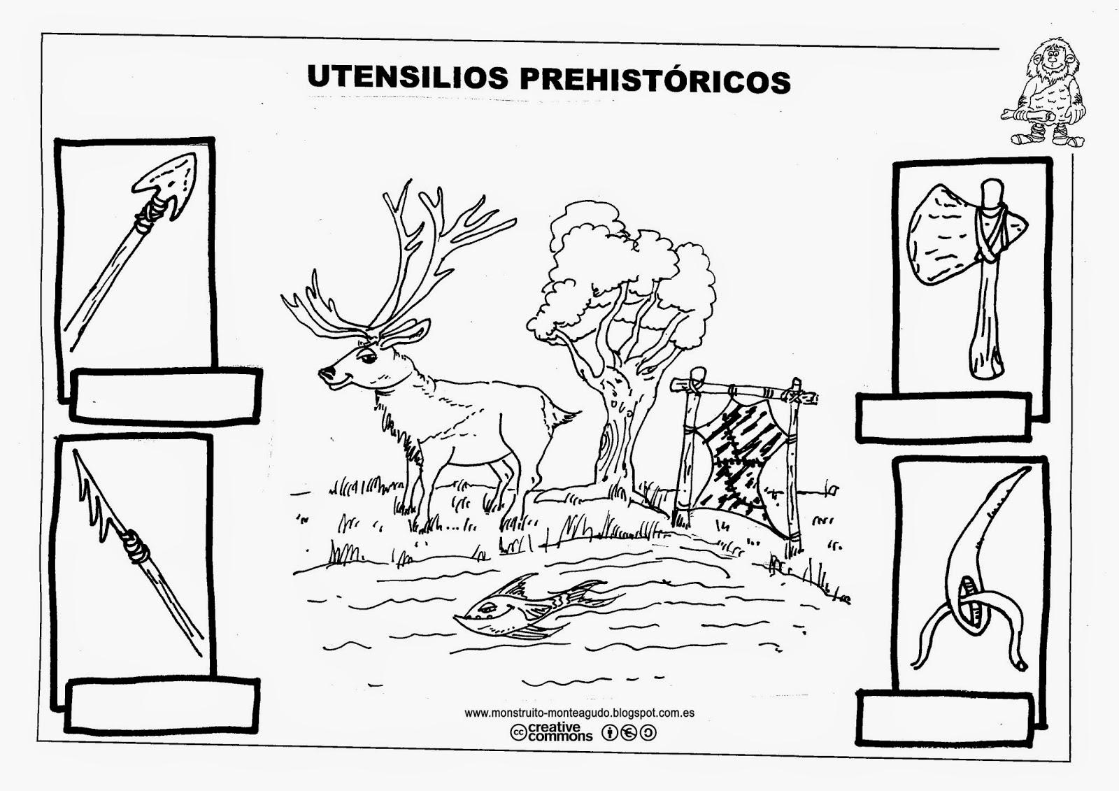 Dibujos De Prehistoria Para Ninos Para Colorear: Fotos De La Prehistoria Para Imprimir