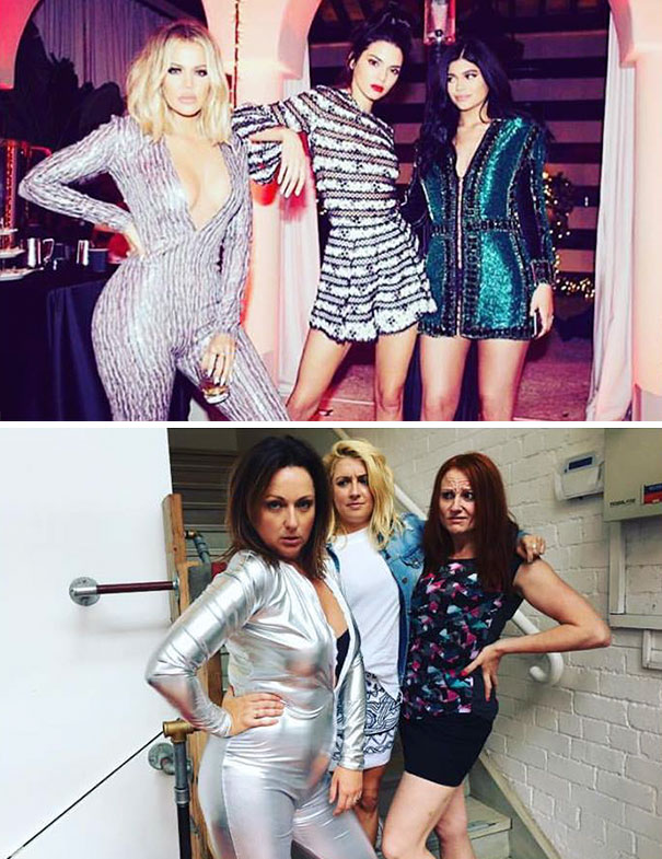Woman Hilariously Recreates Celebrity Instagram Photos (Part 2) - Dude It's Wednesday, Chill