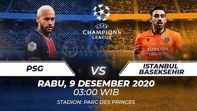 Prediksi Paris Saint Germain Vs Istanbul Basaksehir, Rabu 09 Desember 2020 Pukul 03.00 WIB