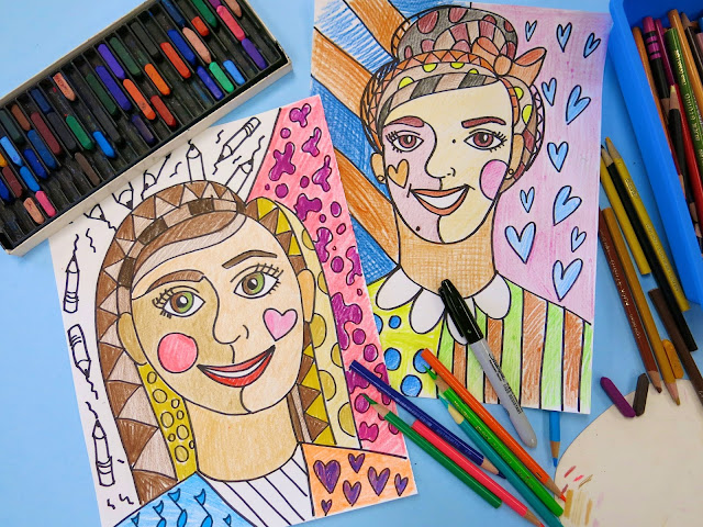 Cassie Stephens: In the Art Room: Romero Britto Inspired ...