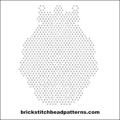 Free brick stitch seed bead earring pattern letter chart.