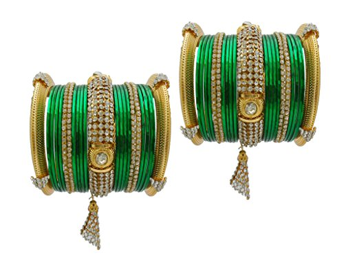 Beautiful Green Bangles Designs for an Indian Bride