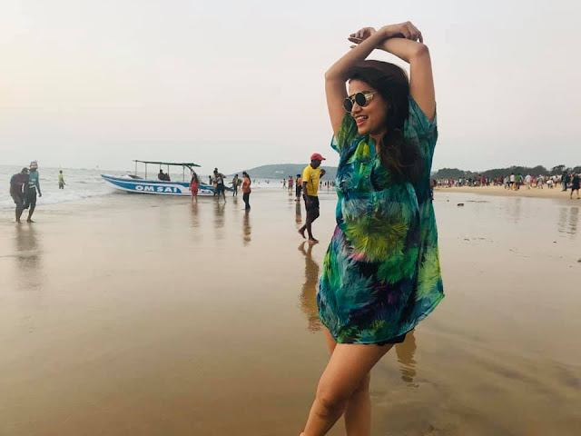 Rajasthani Movie Actress Gauri set fire to Goa beach with hot style