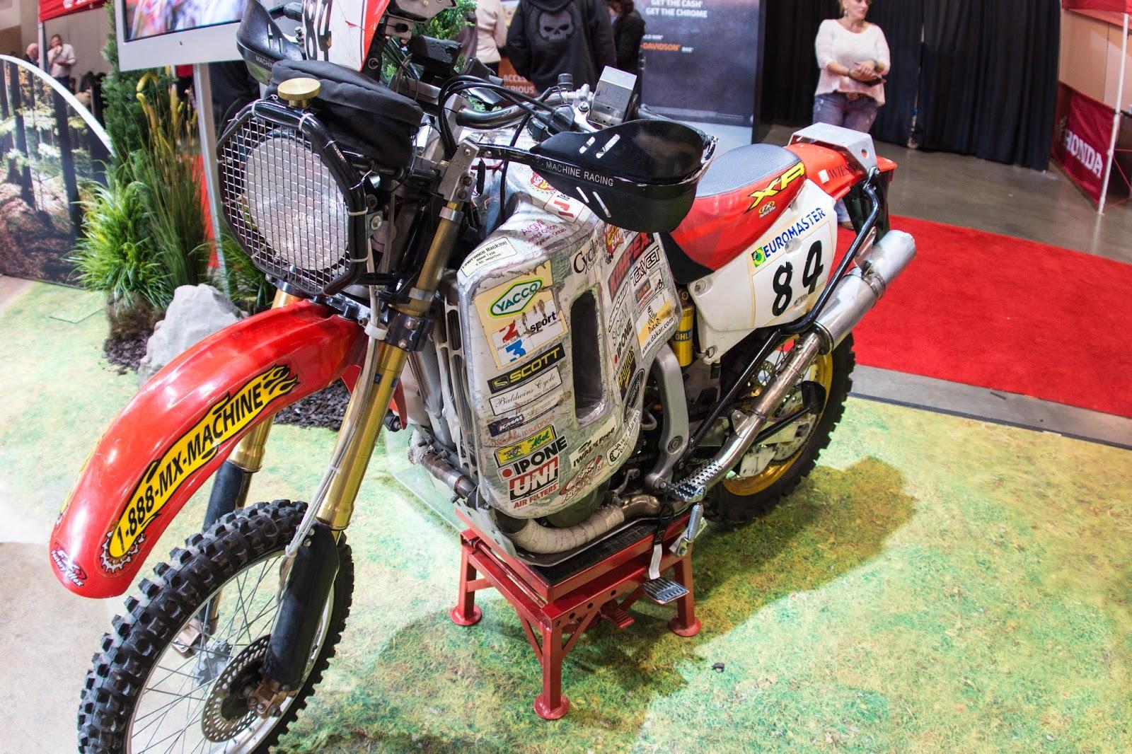 Buffalo and Beyond: Lawrence Hacking's Honda Dakar Bike, Toronto