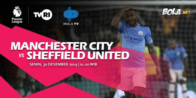 Prediction of Manchester City vs Sheffield United 30 December 2019