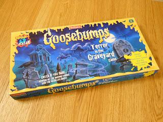 Goosebumps Terror in the Graveyard board game box.
