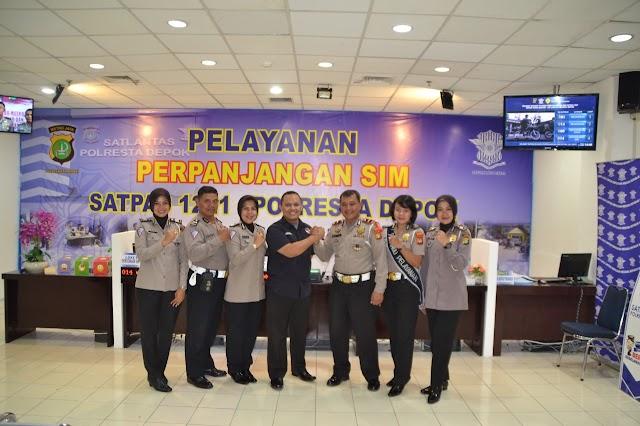 Polresta Depok Buka Gerai Perpanjangan SIM Di Detos