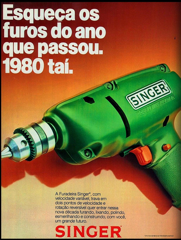 Propaganda da Singer promovendo sua furadeira no fim do ano de 1979