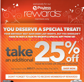 free Payless Shoes coupons december 2016