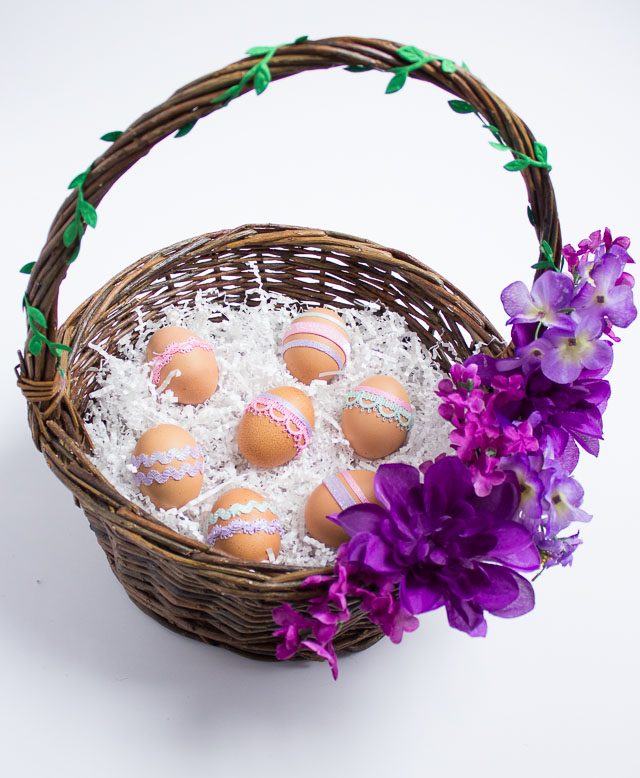 DIY floral Easter basket crafts