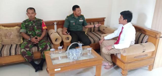 Jaga Suasana Kondusif, Danramil Sambirejo Silaturrahmi Bersama Direktur Pondok Pesantren Baitul Qur'an
