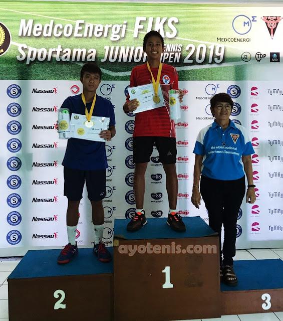 Dio Borong Gelar Juara Turnamen Tenis Fiks