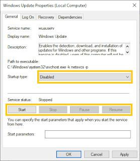 Cara Mematikan Update Windows 10 Secara Permanen Melalui Services