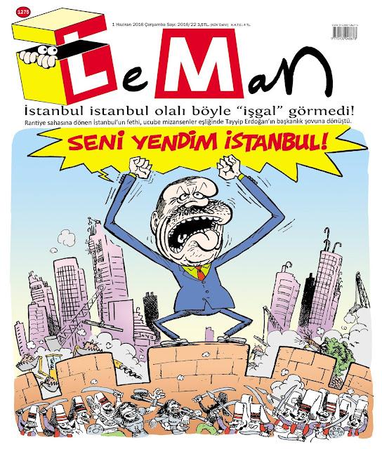 Leman Dergisi - 1 Haziran 2016 Kapak Karikatürü