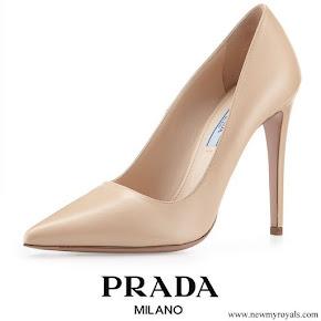 Crown Princess Mary wore PRADA Nude Pumps