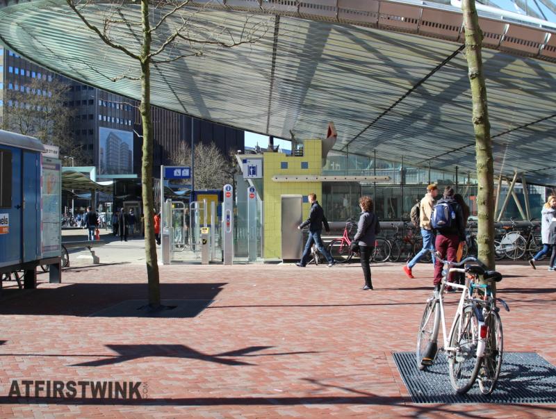 Blaak train station Rotterdam Netherlands