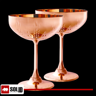 copper cocktail coupe