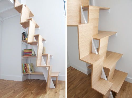 Wooden Staircase designs small space