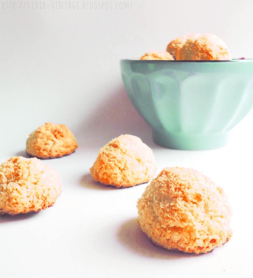 e60e21fdcfc4 Como hacer unos deliciosos coquitos de panadería, sin harina ni ...