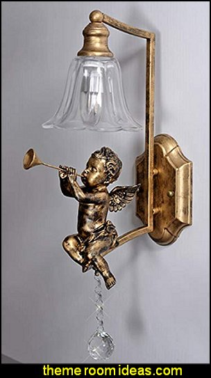 Angel Lamp angel sconce cupid wall decor cherub wall lighting cherub wall decor