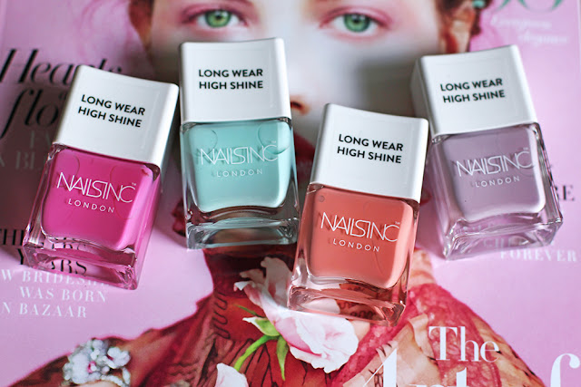 Nails Inc Neon Pastel nails - UK beauty blog